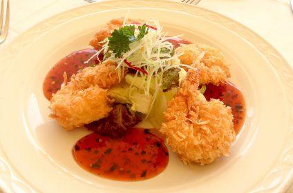 barbados food champers shrimp