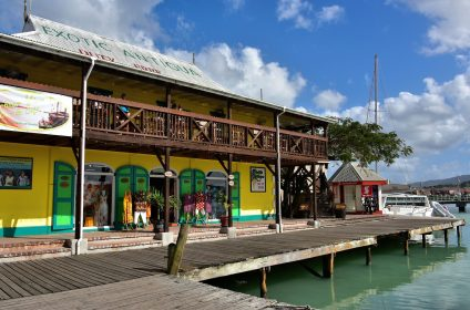 Antigua St Johns Boardwalk Leading to Redcliffe Quay