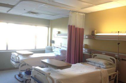 standard patient room 2 beds 1 bathroom great view